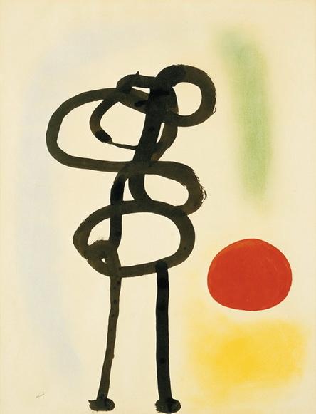 Miro - Figure devant le soleil (1942)