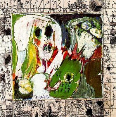 Pierre Alechinsky - La jeune fille et la mort